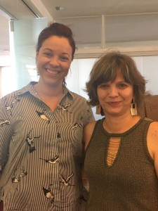 Dra Simone Moreira - SINIBREF e Marisa Rio - Coordenadora do NAP